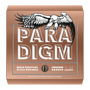 ERNIE BALL PARADIGM LIGHT PHOSPHOR BRONZE ACOUSTIC GUITAR STRINGS - 11-52 GAUGE | Zoso Music