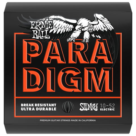 ERNIE BALL PARADIGM SKINNY TOP HEAVY BOTTOM SLINKY PARADIGM ELECTRIC GUITAR STRINGS - 10-52 GAUGE | Zoso Music