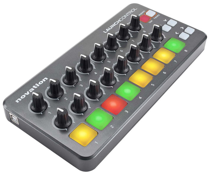 NOVATION LAUNCH CONTROL PORTABLE USB MIDI CONTROLLER WITH 16 ASSIGNABLE KNOBS AND EIGHT PADS