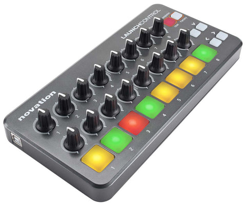 NOVATION LAUNCH CONTROL PORTABLE USB MIDI CONTROLLER WITH 16 ASSIGNABLE KNOBS AND EIGHT PADS | Zoso Music