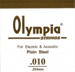 OLYMPIA 100PCS SINGLE STRING 010 FOR ELECTRIC GUITAR & ACOUSTIC | Zoso Music