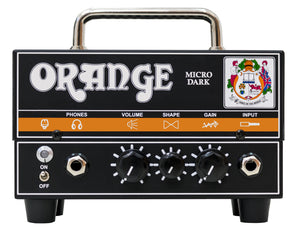 ORANGE MD20 MICRO DARK VALVE HYBRID GUITAR AMPLIFIER HEAD | Zoso Music