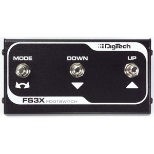 DIGITECH FS3X 3-BUTTON FOOTSWITCH | Zoso Music