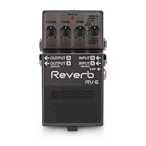 BOSS RV-6 REVERB GUITAR PEDAL (RV6 / RV 6) | Zoso Music