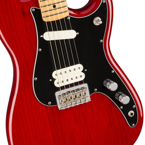 Fender Player Duo-Sonic HS Electric Guitar, Maple FB, Crimson Red Transparent