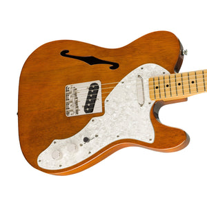 Squier Classic Vibe 60s Telecaster Thinline Electric Guitar, Maple FB, Natural