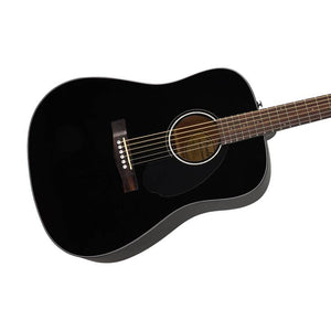 Fender CD-60S Dreadnought Acoustic Guitar, Walnut FB, Black