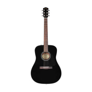 Fender CD-60 Dreadnought V3 Acoustic Guitar w/case, Walnut FB, Black