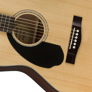Fender CC-60S Concert Left-Handed Acoustic Guitar, Walnut FB, Natural