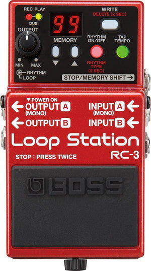 BOSS RC-3 LOOP STATION PEDAL | Zoso Music