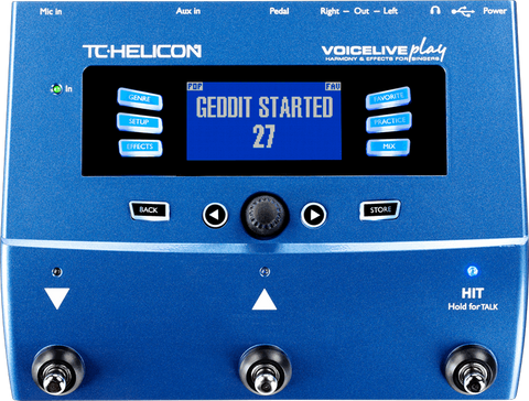 TC-HELICON VOICELIVE PLAY VOCAL EFFECTS PEDAL | Zoso Music