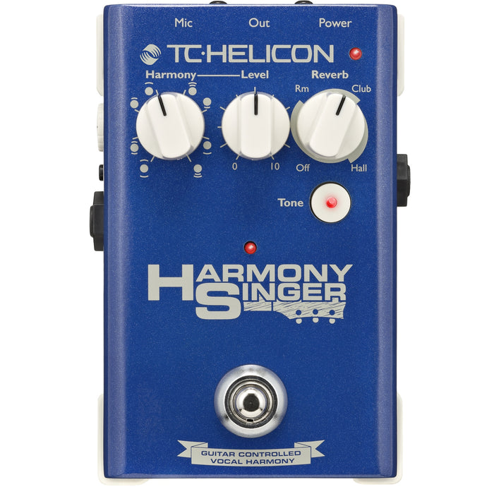 TC HELICON HARMONY SINGER VOCAL EFFECTS STOMPBOX WITH GUITAR-CONTROLLED HARMONY, REVERB AND TONE