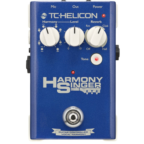 TC Helicon HARMONY SINGER Vocal Effects Stompbox with Guitar-Controlled Harmony, Reverb and Tone | Zoso Music