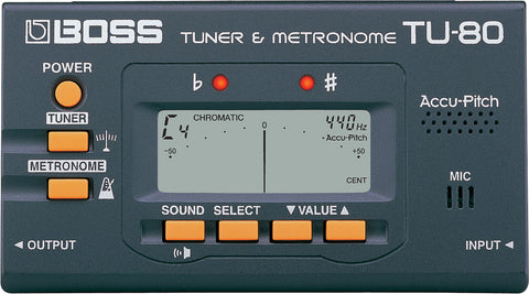 BOSS TU-80 CHROMATIC TUNER | Zoso Music