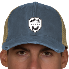 All About Apres Classic Distressed Trucker Hat
