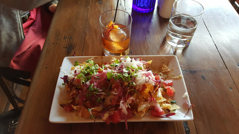 Ahi Tuna Nachos, Bacon Old Fashion, The Firetower Restaurant and Tavern, Stratton Mountain Resort