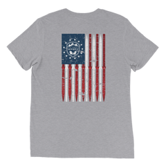 All About Apres Distressed American Flag Tee