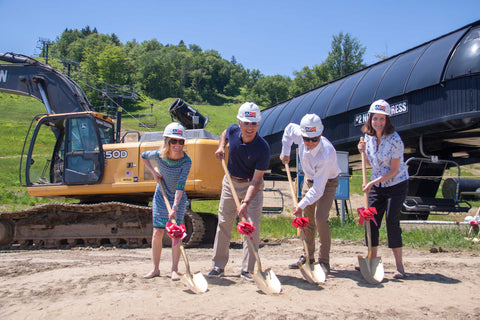 Groundbreaking on Mount Snow Carinthia Lodge