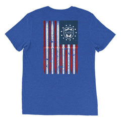 All About Apres Distressed American Flag Shirt