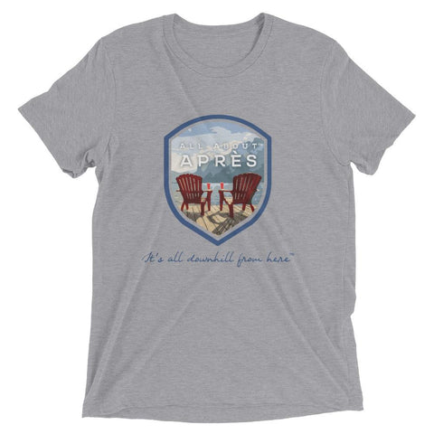 Apres hike, All About Apres, Sitting on the Dock of the Bay, Adirondack chair dock shirt,
