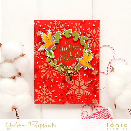 Easy Christmas card idea with Tonic Studios Supplies