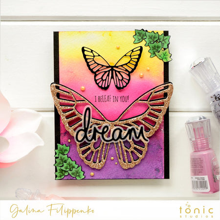 Easy Shimmer Sunset Card Background with Galina