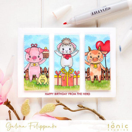 Build a scene with Celebrate Friendship stamps by Tonic Studios