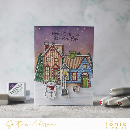 Christmas Eve Scene with Santa's Little Village by Tonic Studios