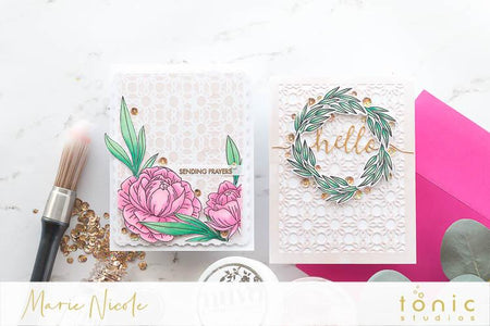 Nuvo Mousses backgrounds + Peony Bloom