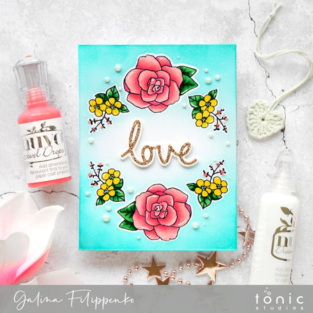 How to Create a One Layered Floral Card – Tutorial – Galina Filippenko