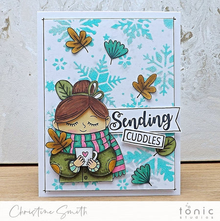 Warm Cocoa Wishes Decoupage Card with Christine Smith