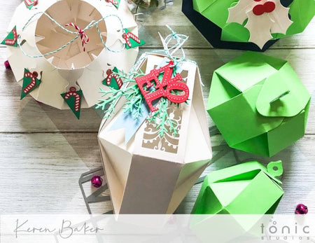 Wonderland Gift Boxes + Christmas Scene Tags Dies by Tonic Studios