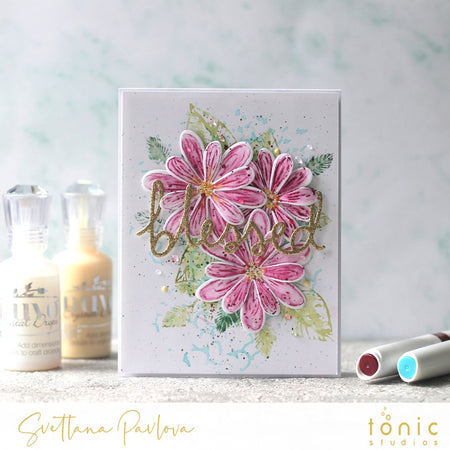 How to Create Nuvo Aqua Flow Stencilled Backgrounds and Stamping Technique – Svetlana Pavlova