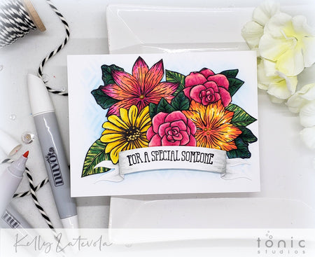 Create a Floral Bouquet Card – Tutorial – Kelly Latevola