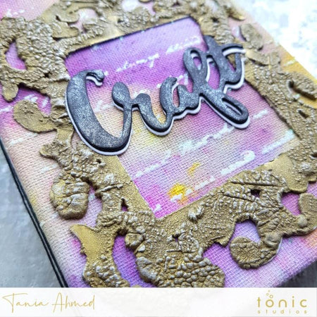How to Create a Tonic Studios Mixed Media Mini Album – Tania Ahmed