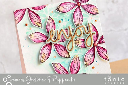 How to Create a Bright Floral Card Using Only One Medium – Galina Fillipenko