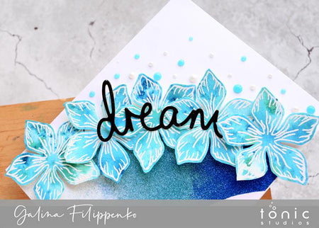 How to Create a Card with a Shiny Ombre Effect and Loads of Glitter – Galina Fillipenko
