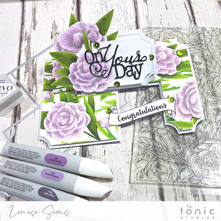 On Your Day Creator Twister Die set +Flora Background Stamp
