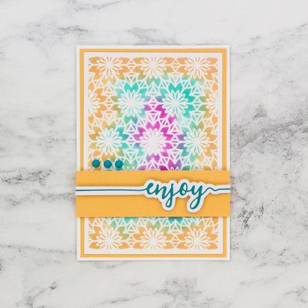 Enjoy Dream in Colour Ink Blended Card by Dawny Phillips