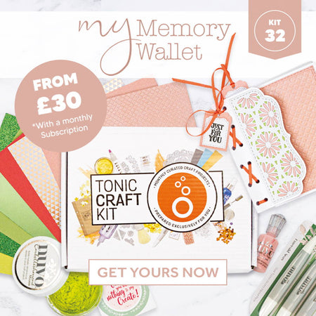 Tonic Craft Kit 32 - My Memory Book Wallet