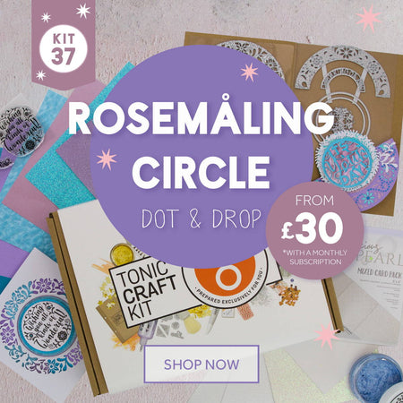Tonic Craft Kit 37 - Rosemaling Circle Dot & Drop - Inspiration