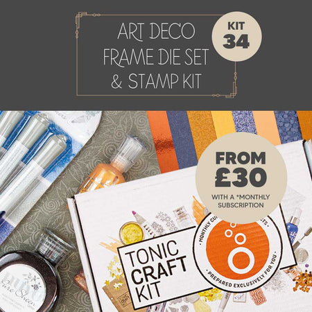 Tonic Craft Kit 34 – Art Deco Frame Die Set - Inspiration