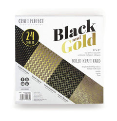 Craft Perfect 6x6 Card Packs Craft Perfect - 6x6 Card Packs - Black & Gold - 9434e