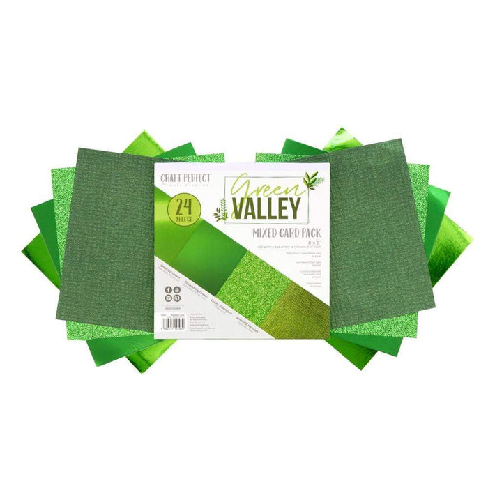 Craft Perfect 6x6 Card Packs Craft Perfect - 6x6 Card Packs - Green Valley - 9393e