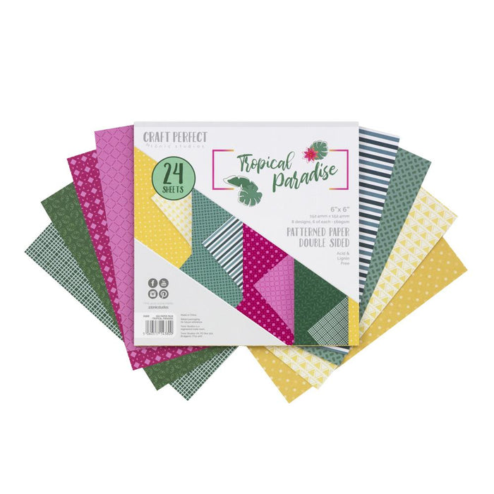 Craft Perfect 6x6 Card Packs Craft Perfect - 6x6 Paper Packs - Tropical Paradise - 9380e
