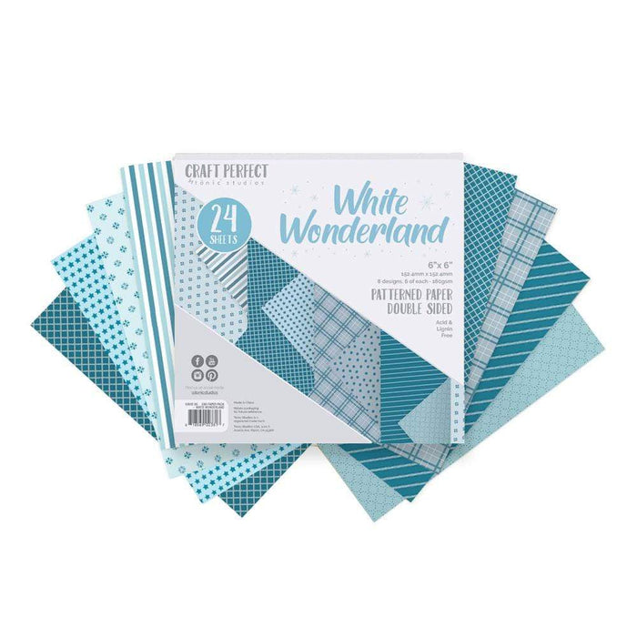 Craft Perfect 6x6 Card Packs Craft Perfect - 6x6 Paper Packs - White Wonderland - 9381E