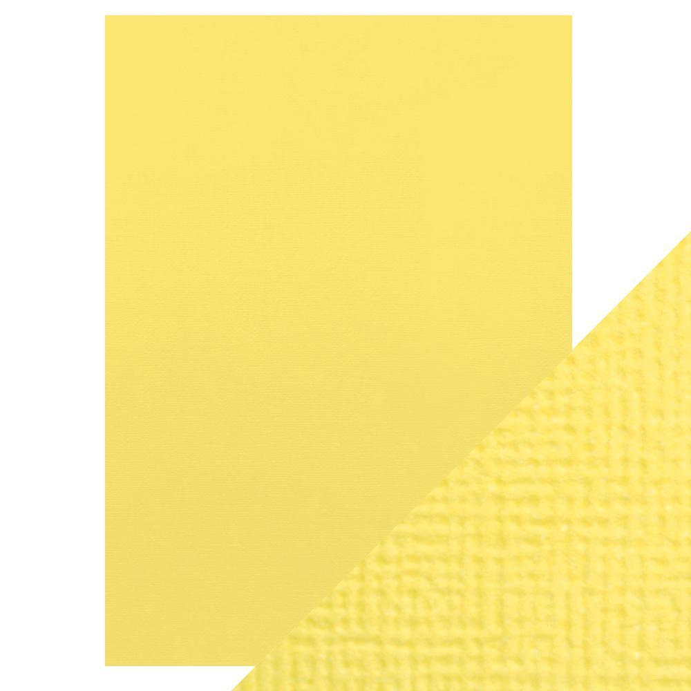 Craft Perfect Classic Card Craft Perfect - Classic Card  - Buttermilk Yellow - Weave Textured - A4(10/PK) - 9029e