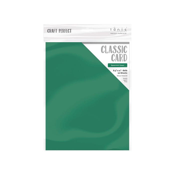 "Craft Perfect Classic Card Craft Perfect - Classic Card  - Spearmint Green - Weave Textured - 8.5""x11""(10/PK) - 9642e"