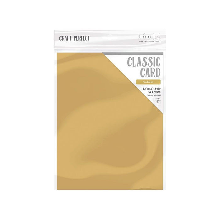 "Craft Perfect Classic Card Craft Perfect - Classic Card  - Tan Brown - Weave Textured - 8.5""x11""(10/PK) - 9719e"