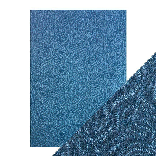 Craft Perfect Luxury Embossed Card Craft Perfect - Speciality Card - Luxury Embossed - Denim Ripple - A4(5/PK) - 230gsm - 9839e